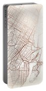 Montreal Street Map Colorful Copper Modern Minimalist Portable Battery Charger