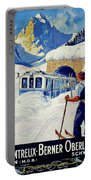 Montreux, Berner Oberland Railway, Switzerland, Winter, Ski, Sport Portable Battery Charger