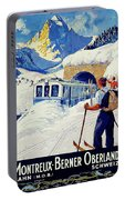 Montreux, Berner Oberland Railway, Switzerland, Winter, Ski, Sport Portable Battery Charger