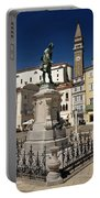Monument And Statue Of Giuseppe Tartini At Tartini Square Piran  Portable Battery Charger