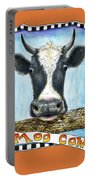 Moo Cow In Orange Portable Battery Charger
