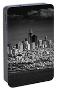 Moody Black And White Photo Of San Francisco California Portable Battery Charger