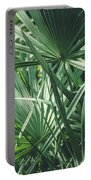Moody Tropical Leaves Portable Battery Charger