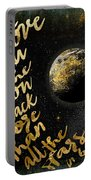 Moon And Back Stars Night Portable Battery Charger