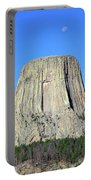 Moon And Devil's Tower National Monument, Wyoming Portable Battery Charger