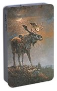Moon Dusted Moose Portable Battery Charger