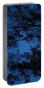Moon Hiding In The Tree Portable Battery Charger