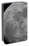 Moon In B And W Portable Battery Charger