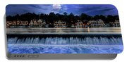 Moon Light - Boathouse Row Philadelphia Portable Battery Charger