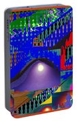 Moon Reflections On Mountains Abstract Graphic Paint Download For Personal N Commercial Projects Fun Portable Battery Charger by Navin Joshi