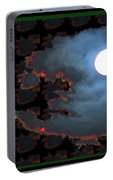 Moon Through Clouds  Photography With Graphic Flavour Created By Navinjoshi At Fineartamerica.co Portable Battery Charger