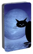 Mooncat's Loneliness Portable Battery Charger by Issabild -