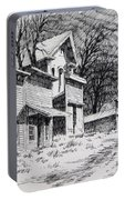 Moonlight Bannack Ghost Town Montana Portable Battery Charger