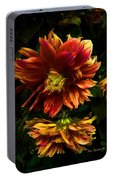 Moonlight Dahlia Portable Battery Charger