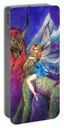 Moonlight Fairy And Her Horned Horse Portable Battery Charger