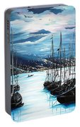 Moonlight Over Port Of Spain Portable Battery Charger