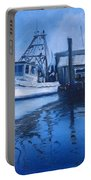 Moonlit Harbor Portable Battery Charger