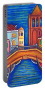 Moonlit San Barnaba Portable Battery Charger by Lisa  Lorenz