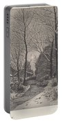 Moonlit Stroll In Winter Portable Battery Charger