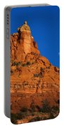 Moonrise Over Red Rock Portable Battery Charger by Mike  Dawson