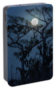 Moonrise Over Wetlands Portable Battery Charger