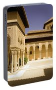 Moorish Architecture In The Nasrid Palaces At The Alhambra Granada Portable Battery Charger