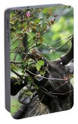 Moose Eating Crab Apple Tree Portable Battery Charger