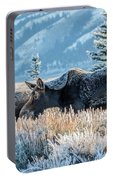 Moose In Cold Winter Ice Portable Battery Charger