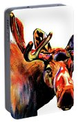 Moose In Orange Portable Battery Charger