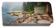 Moraine Lake And Boathouse Portable Battery Charger