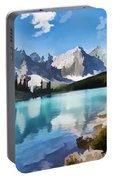 Moraine Lake At Banff National Park Portable Battery Charger