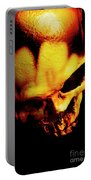 Morbid Decaying Skull Portable Battery Charger