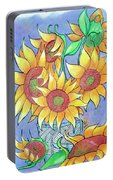 More Sunflowers Portable Battery Charger by Loretta Nash