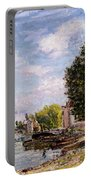 Moret-sur-loing Portable Battery Charger by Alfred Sisley