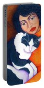 Morgana With Woman Portable Battery Charger