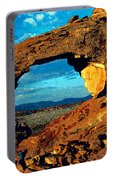 Morning At Landscape Arch Portable Battery Charger