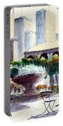 Morning, Bryant Park  Portable Battery Charger