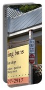 Morning Buns Sign Portable Battery Charger by Kim Bemis