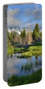 Morning Clouds Over Tetons Portable Battery Charger