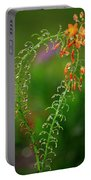 Morning Dew On Orange Flowers Portable Battery Charger