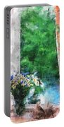 Morning Flowers Portable Battery Charger