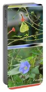 Morning Glories And Butterfly Portable Battery Charger