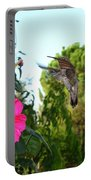 Morning Glories And Humming Bird Portable Battery Charger