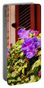 Morning Glories In Nola Portable Battery Charger