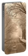 Morning Ice And Fog Portable Battery Charger
