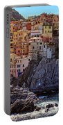 Morning In Manarola Cinque Terre Italy Portable Battery Charger