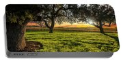 Morning In Wine Country Portable Battery Charger