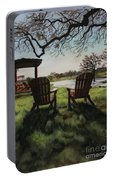 Morning Light At The Vineyard Florence Texas Portable Battery Charger