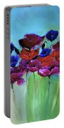 Morning Light Poppies Painting Portable Battery Charger