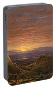 Morning Looking East Over The Hudson Valley From The Catskill Mountains Portable Battery Charger